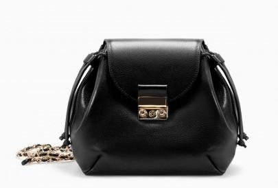 Tracolla nera Zara borse autunno inverno 2015