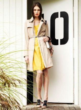 Trench e abito giallo Pennyblack primavera estate 2013