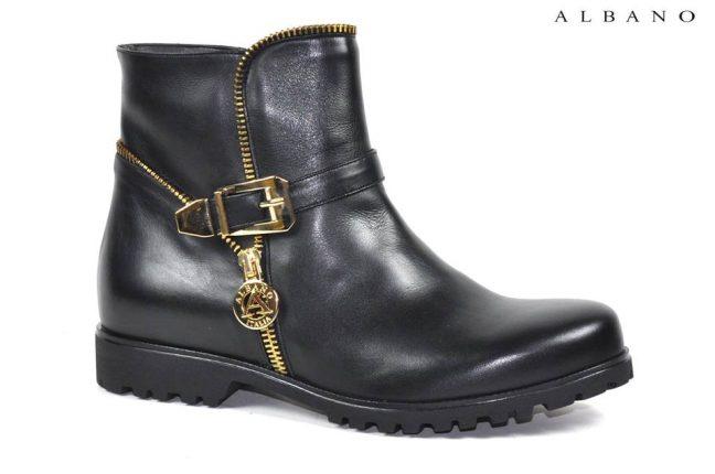 Tronchetto nero Albano scarpe autunno inverno 2015