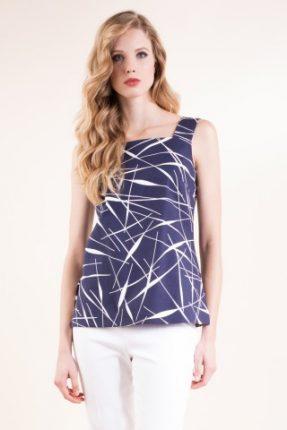 Tunica in pique di cotone stretch stampato Luisa Spagnoli primavera estate