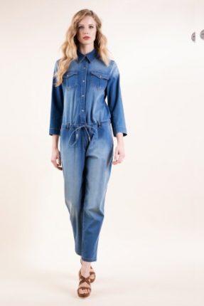Tuta in jeans stretch Luisa Spagnoli primavera estate