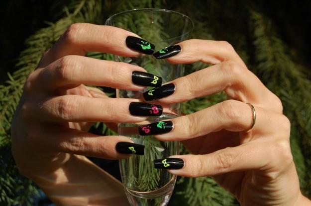 Unghie da strega nail art Halloween