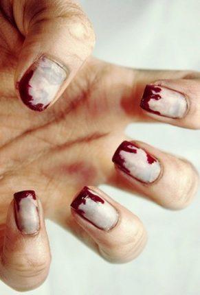 Unghie da zombie nail art Halloween