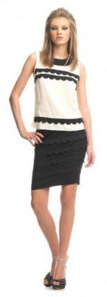 Vestiti bianco e nero Fornarina primavera estate 2013