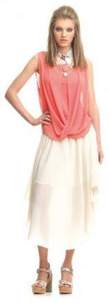 Vestiti rosa e bianco Fornarina primavera estate 2013