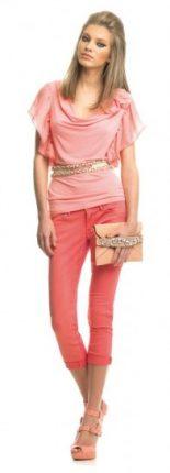 Vestiti rosa salmone Fornarina primavera estate 2013