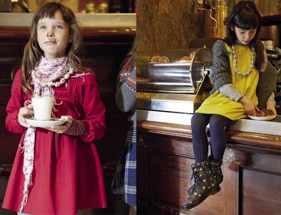 Vestitini eleganti bambina Benetton autunno inverno 2013 2014
