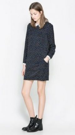 Vestito a pois con colletto Zara primavera estate 2014