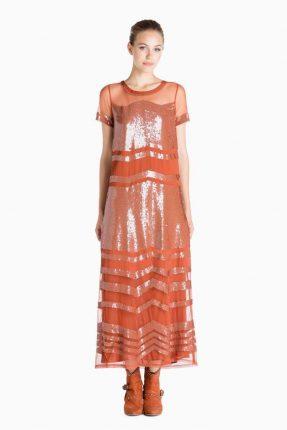 Vestito arancione Twin Set Simona Barbieri autunno inverno 2017