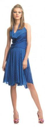 Vestito azzurro a pois bianchi Fornarina primavera estate 2013