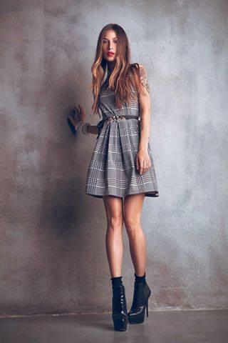 Vestito con cintura Denny Rose autunno inverno 2015