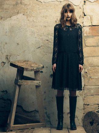 Vestito con pizzo Fornarina autunno inverno 2015