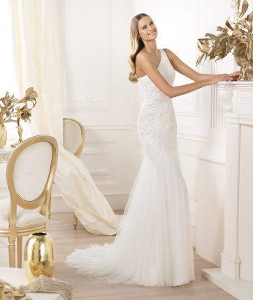 Vestito da sposa monospalla Pronovias mod Lacan