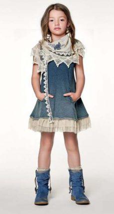 Vestito denim Twin Set bambini primavera estate 2013