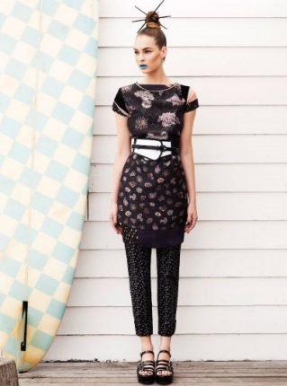 Vestito e pantaloni con micro fantasia Pennyblack primavera estate 2013