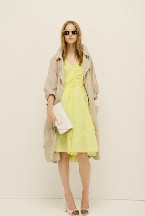 Vestito giallo Nina Ricci primavera estate 2014