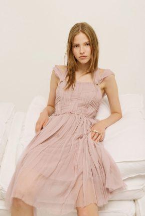 Vestito rosa antico Nina Ricci primavera estate 2014