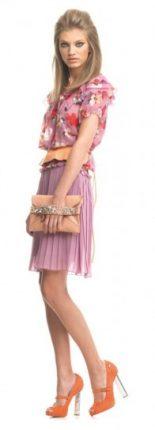 Vestito rosa con fiori Fornarina primavera estate 2013