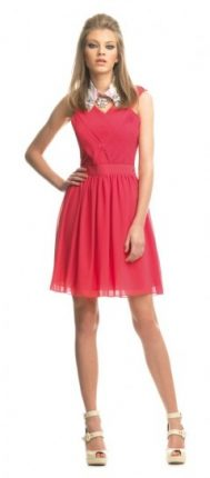 Vestito rosso plissé Fornarina primavera estate 2013