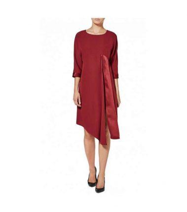 Vestito rosso Sisley autunno inverno 2017