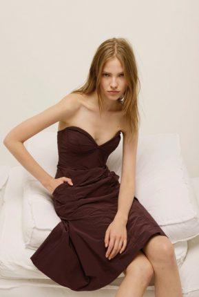 Vestito senza spalline Nina Ricci primavera estate 2014