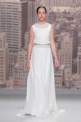 Vestito sposa con cristalli Rosa Clarà 2015