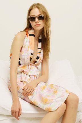 Vestito stampa fulard Nina Ricci primavera estate 2014
