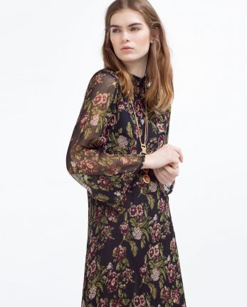 Zara primavera estate 2016 abito fiori