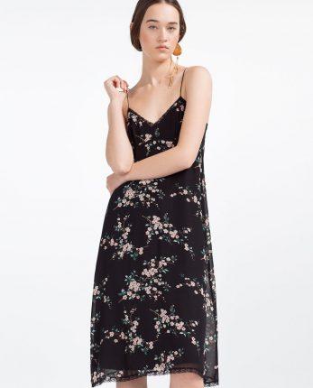 Zara primavera estate 2016 abito smanicato fiori