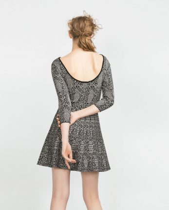 Zara primavera estate 2016 mini dress con scollatura dietro