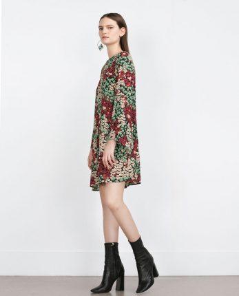 Zara primavera estate 2016 vestito a fiori