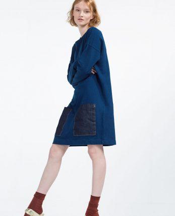 Zara primavera estate 2016 vestito blu con tasche