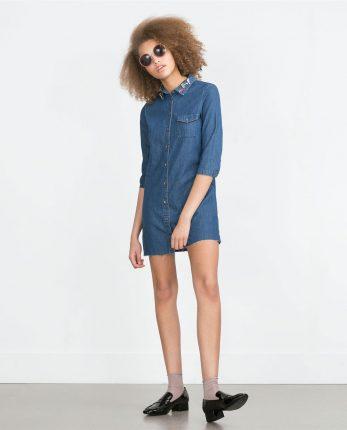 Zara primavera estate 2016 vestito denim