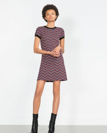 Zara primavera estate 2016 vestito stampa geometrica