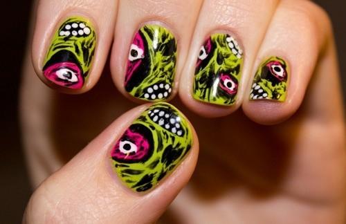Zombie nail art unghie Halloween