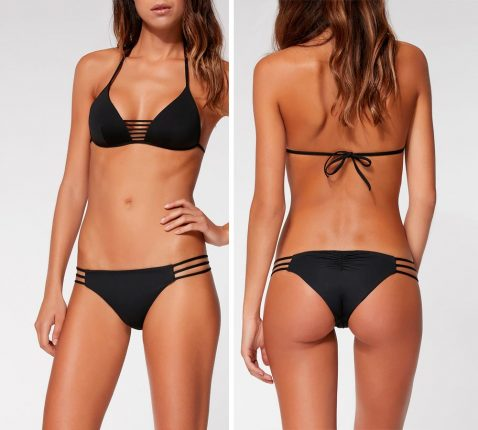 Bikini Trinagolo Barbara Jacquard E Slip Stringhe Calzedonia