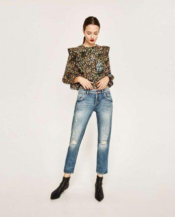 Blusa A Fiori Zara