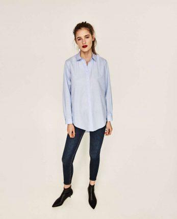 Camicia Azzurra Zara