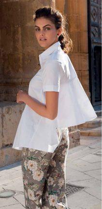 Camicia Bianca Con Lunghezza Alternata NaraCamicie