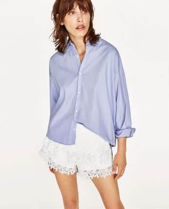 Camicia E Shorts In Pizzo Zara