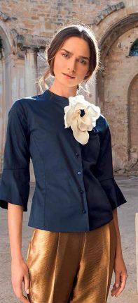 Camicia Elegante Con Fiore NaraCamicie