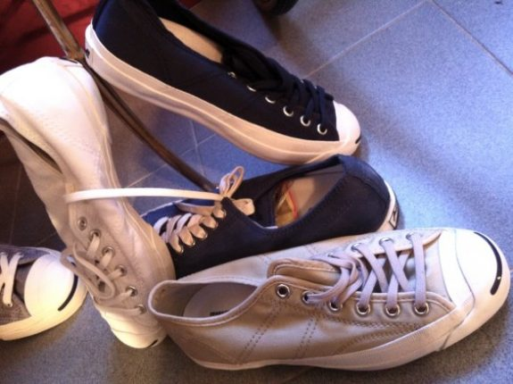 Converse All Star Sneakers Bianche E Nerwe