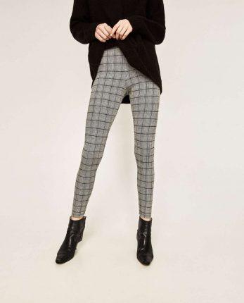 Leggings Pied De Poule Di Zara