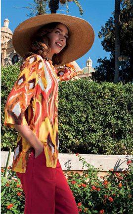 Maglia Stampa Etnica Multicolor NaraCamicie