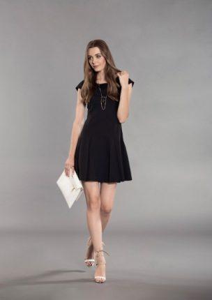 Mini Dress Elegante Nero Koralline
