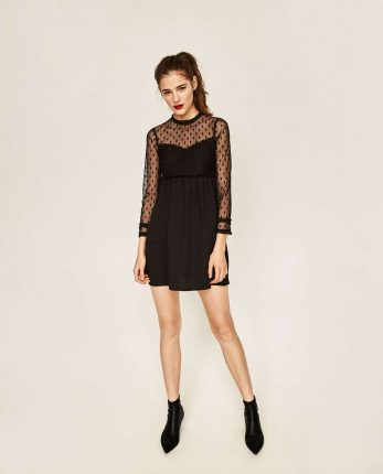 Minidress Mesh Zara