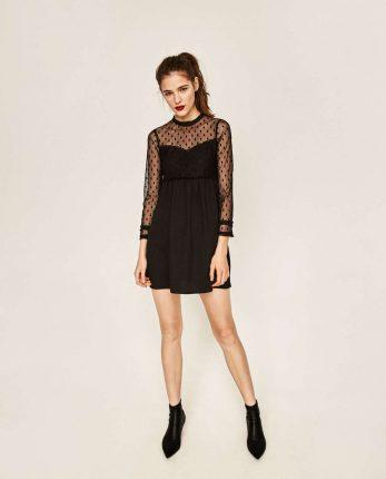 Minidress Mesh Zara