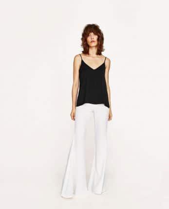 Pantaloni Bianchi A Zampa Zara