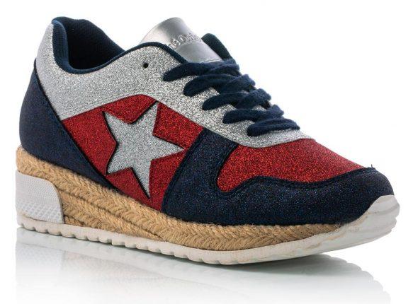 Sneakers Glitter Con Suola In Gomma Bianca E Paglia (39,90 Euro)