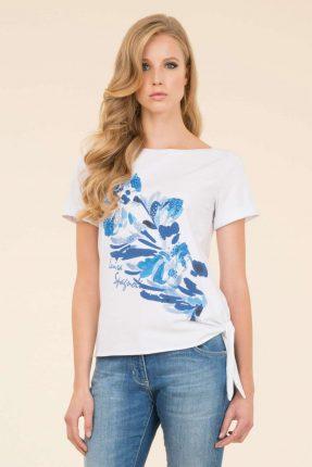 T Shirt A Fiori Luisa Spagnoli Estate